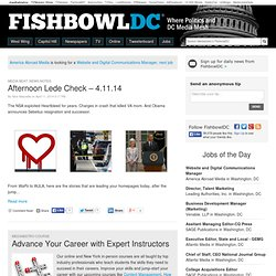 FishbowlDC - Where Politics & DC Media Mesh