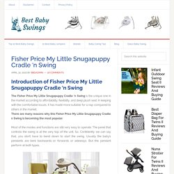 Fisher-Price My Little Snugapuppy Cradle 'n Swing Best Seller baby swing