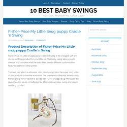 Fisher-Price My Little Snug puppy Cradle 'n Swing