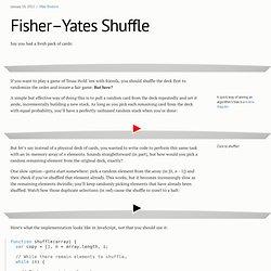Fisher–Yates Shuffle