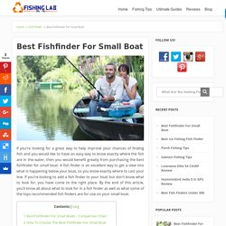 Best Fishfinder For Small Boat – Ultimate Guide & Reviews