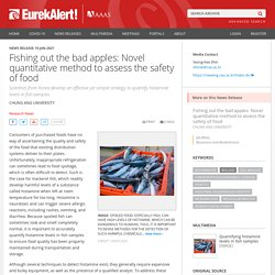 EUREKALERT 19/01/21 Fishing out the bad apples: Novel quantitative method to assess the safety of food (histamine)