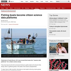 Fishing boats become citizen science data platforms - BBC News