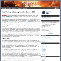 WoW Cataclysm Fishing & Cooking Leveling Guide 1-525 | WoW Professions & Talents