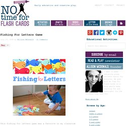 Fishing For Letters Game