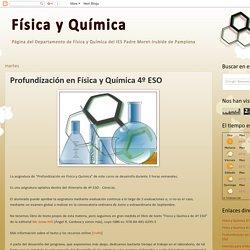 Profundización en Física y Química 4º ESO