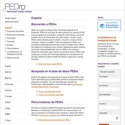 Base de Datos de Fisioterapia Basada en la Evidencia (Español)