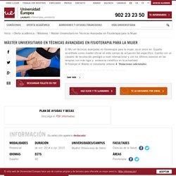 Master en Técnicas Avanzadas de Fisioterapia - Universidad Europea
