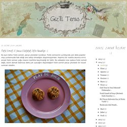 Giz'li Teras: Fıstık Ezmeli & Parça Çikolatalı Enfes Kurabiye :)