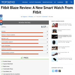 Fitbit Blaze Review: A New Smart Watch From Fitbit