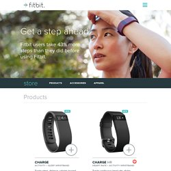 Boutique Fitbit : Acheter Surge, Charge HR, Charge, Flex, One, Zip et Aria