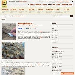 Fitinline.com : Memotong Bahan Faux Fur