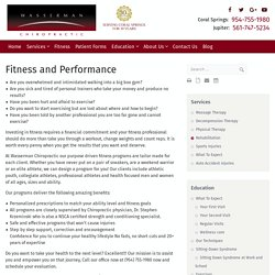 Fitness and Performance