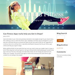 Can Fitness Apps really help you Get in Shape?
