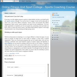 Online Fitness And Sport College - Sports Coaching Course: Get paid even if you don't play