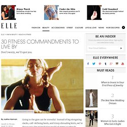 30 Fitness Commandments to Live By - Best Workout Tips