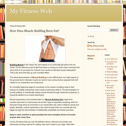 My Fitness Web: How Does Muscle Building Burn Fat?