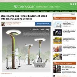 Street Lamp and Fitness Equipment Blend Into Smart Lighting Concept