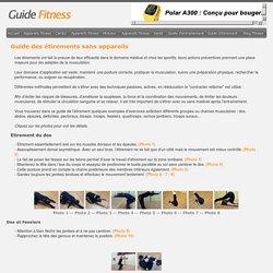 Guide Fitness - Guides des étirements sans appareils