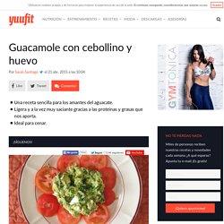 Receta fitness: Guacamole con cebollino y huevo