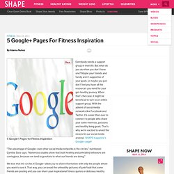 5 Google+ Pages to Follow for Fitness Inspiration