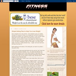 Fitness Malaysia: Simple Eating Plan to Help You Lose Weight