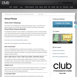 Group Fitness Classes, Fitness Centres: Meadowvale, Mississauga