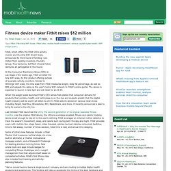 Fitness device maker Fitbit raises $12 million