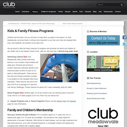 Family Fitness Mississauga, Kids Health and Fitness Programs