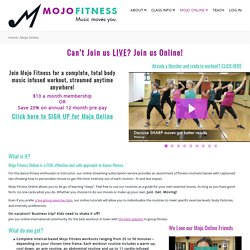 Mojo Fitness Online dance fitness classes, cardio workout videos