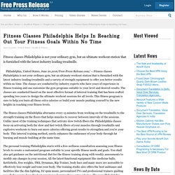 Get the Best Fitness Classes in Philadelphia