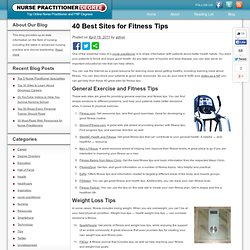 40 Best Sites for Fitness Tips - Nurse Practitioner Degree Blog