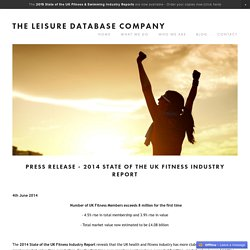 2014 Fitness Press Release — The Leisure Database Company