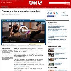 Fitness studios stream classes online