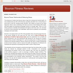 Bounce Fitness Reviews: Bounce Fitness Testimonials & Reducing Stress