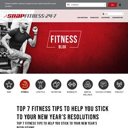 Top 7 Fitness Tips to Help You Stick to Your New Year's Resolutions