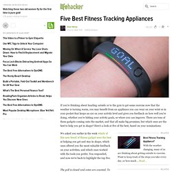 Five Best Fitness Tracking Appliances
