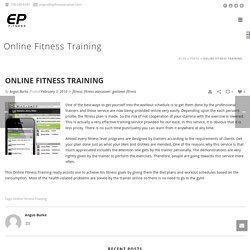 Online Fitness Training Downtown & West End