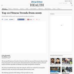 Top 10 Fitness Trends from 2009 -- baltimoresun.com