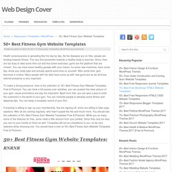 50+ Best Fitness Gym Website Templates - Web Design Cover