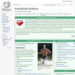 Portal:Health and fitness
