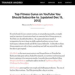 Fitness Gurus on YouTube