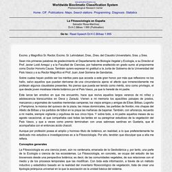 La Fitosociología en España - Publication