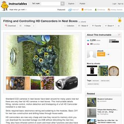 Fitting and Controlling HD Camcorders in Nest Boxes - All