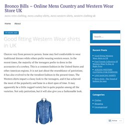 Good fitting Western Wear shirts in UK – Bronco Bills – Online Mens Country and Western Wear Store UK