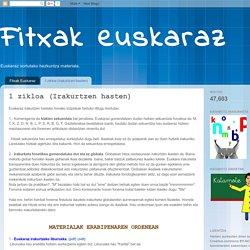 Fitxak euskaraz: 1 zikloa (Irakurtzen hasten)