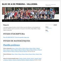 BLOC DE 4t DE PRIMÀRIA – VALLDEMIA