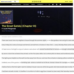 F. Scott Fitzgerald – The Great Gatsby (Chapter III)