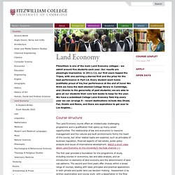 The Land Economy Essay Competition