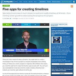Five apps for creating timelines